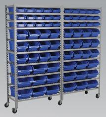 Bin fil commercial Système d'étagères de stockage 10 étagères avec roulette de 5 pouces