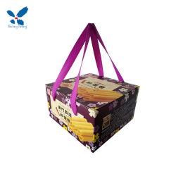 2019 оптовой новый стиль бумаги печенье в подарочной упаковке продуктов питания в салоне с розовым/красный/синий/черный/фиолетовый/белый цвет ленты ручки