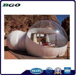 Tenda esterna gonfiabile della bolla di campeggio dell'hotel trasparente della tenda