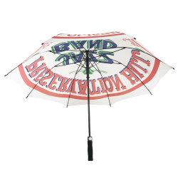 Высокое качество поощрение полного ТЕБЯ ОТ ВЕТРА из стекловолокна EVA обработки поля для гольфа зонтик с Custom Print