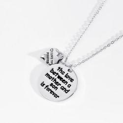 presente de promoção Dia da Mãe de jóias Coração Personalizado Colar pingente de coração o amor da Mãe Dia dom para a mãe