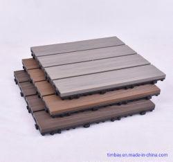 WPC Mosaik-Fußboden, der im Freien rostfeste ökologische hölzerne Fußboden-Fliese blockiert