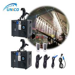 2pcs 600W 1-5m Cascade étincelle froide Sparkler DMX de la machine contrôleur à distance de la machine pour l'étape Afficher le périphérique