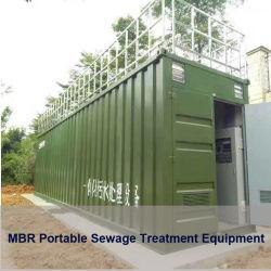 Contentorização móvel portátil RO UF Mbr Purificador de Água Potável de efluentes de esgotos Firtration Filtro de dessalinização da água do sistema de equipamento de tratamento de efluentes