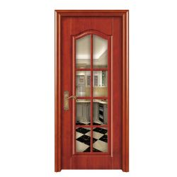 متأخّر تصميم فولاذ خشبيّة و [ويندوو غريلّ] مسطّحة خشب أبواب