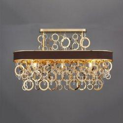 新しいデザイン金属のリングのガラスシャンデリアの鋳鉄のシャンデリアの贅沢なホーム装飾のガラス花のペンダントライト