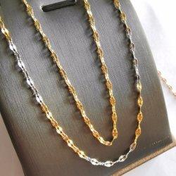 Mode Edelstahl 18K vergoldet Lip Chain geprägte Handarbeit Halskette Armband Knöchel Herstellung Schmuck