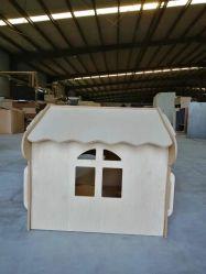 Casa de gran calidad para interiores perro/gato de madera de la casa de la jaula para mascotas