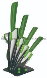 6ПК АБС TPR покрытие ручки керамические ножа
