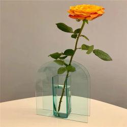 Acrílico transparente de plexiglás de Perspex European Home decoraciones Jarrón de flores