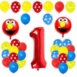 1 Festa de Aniversário Eventos decorações Contratante fornece Tema vermelho Unicorn Crianças Palavra balões