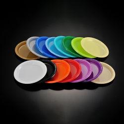 18cm の卸売品、使い捨て可能な PS カラフル円形プレート