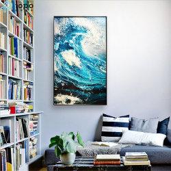 H1000mm*600mm/H1610mm*910mm de pared decorativos Sofe chino Loft de onda del mar la pintura (MR-YB6-2023)