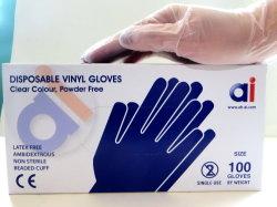Vinil luvas descartáveis de cor da indústria química de imprimir o trabalho doméstico de plástico/POLI/CPE/HDPE/LDPE/PVC/Vinis/exame/Inelástica elástica TPE/Apagar