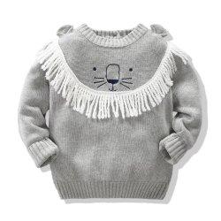 아이들의 스웨터 동물성 시리즈에 의하여 뜨개질을 하는 스웨터 아기 옷