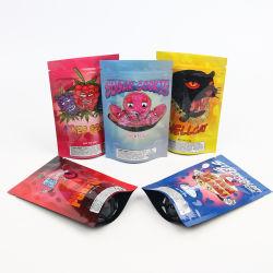 Recycelbare Stand Up Pouch Custom biologisch abbaubare Kunststoff Verpackung Lebensmittel 7g Cookie 3,5 Mylar Frost Cookie Weed Geruchsgeschützte Tasche