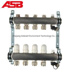 2-12 방향 스테인레스 스틸 매니폴드 및 복사 가열을 위한 밸브