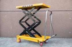 油圧式移動式ハンドジャッキ手動はさみ上げプラットフォーム / リフトテーブル