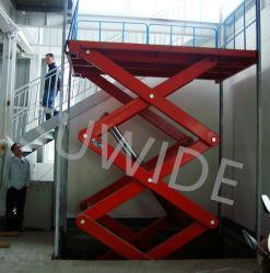 La mesa elevadora Eléctrica Hidráulica Industrial plataforma de trabajo de la mesa de elevación elevador de tijera tabla hw1001