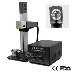 Portátil de alta velocidad de marcador de fibra láser CNC para el precio de las piezas