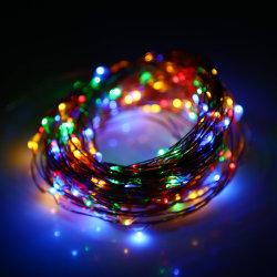 Luz solar cable de cobre cable de hilo de hadas LED de exterior Luz solar Lámpara