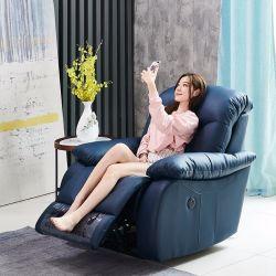 Espaço de primeira classe Cabina Multifuncional Lazy Lazer cadeira de balanço inteligente Eléctrico Home Theater Único #sofá de couro