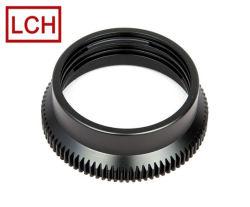 CNC의 OEM 카메라 본체 블랙 아노다이징 처리된 후면 렌즈 캡 가공