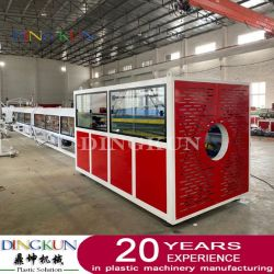ماكينة صنع الأنابيب عالية الكثافة (HDPE) بقطر كبير / بروز الأنابيب عالية الكثافة (HDPE) خط أنابيب خرج الماكينة / PE