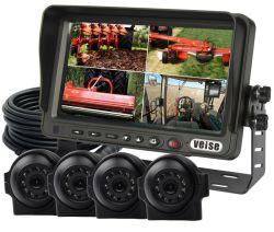 Cuatro monitores de seguridad del sistema de cámara de visión trasera para equipo pesado