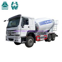 Sinotruk 중부하 자체 적재 이동식 시멘트 콘크리트 믹서 트럭