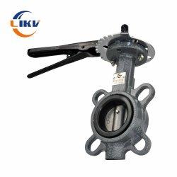 150lb concéntrico de 8 pulgadas de zanja de gas de tipo brida Válvula de mariposa Wafer Extensiones Forro de goma