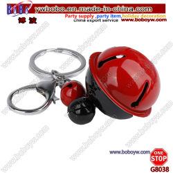 Рождество орнамент высокое качество Cute красный шнурок 3D-Canvas обувь цепочки ключей с 3 Тизначный колокола (G8038)