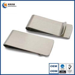 Kundenspezifischer Großhandel Blank Silber Edelstahl Metall Geld Clip Mehrere Größe