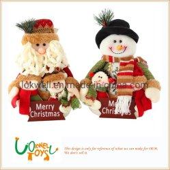 サンタクロース及びスノーマンのクリスマスの装飾のプラシ天のおもちゃの製造業者
