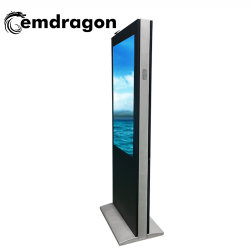 55 pulgadas Wind-Cooled aterrizaje vertical en la pantalla de la máquina de publicidad exterior publicidad Espejo Mágico de señalización digital LED de pantalla táctil de monitor de PC kiosko multimedia