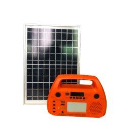 Оплата по мере Портативные комплекты выключение освещения солнечной поверхности солнечных фотоэлектрических мощность энергетической системы Home встроенный аккумулятор контроллера инвертора с радио/MP3 Считывающее устройство карточки динамик