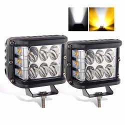 LED Knippert 2sides Strobe Shot Truck Offroad 4X4 Square 3 Inch LED-werklamp voor in de auto