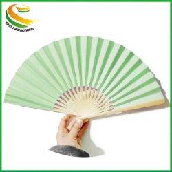 Plegado de papel de bambú impresas personalizadas Abanicos para regalos Pormotional