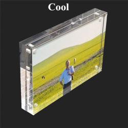 La decoración del hogar regalo de promoción artesanal el bloque de acrílico/imán plástico /Photo Frame Picture Frame