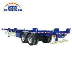 중국 공장 2 차축 40FT 판매를 위한 70tons 터미널 포트 해골 또는 골격 반 트럭 트랙터 콘테이너 트레일러