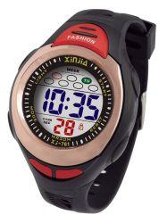 Caso plástico Relógio desportivo digital com 3 barras resistentes à água