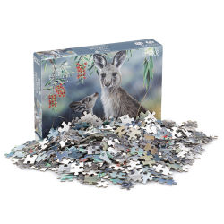 500 куски картона головоломки игры головоломки для детей игрушка в области образования для взрослых Custom защиты животных пол бумаги головоломки