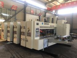 4つのカラーFlexoの印刷のSlotting&Rotaryの型抜き機械