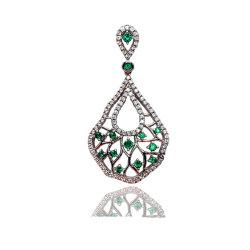 I monili di lusso/lo smeraldo creato monili fini ciondolano il pendente per il partito/cerimonia nuziale