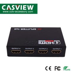 Ultra HD Splitter HDMI 4K 1X4 4 port Signal distributeur diviseur Diviseur HDMI 1.4 1 dans 4 l'appui 2k*4K Support Blu-ray DVD compatible HDCP 95*60*21mm