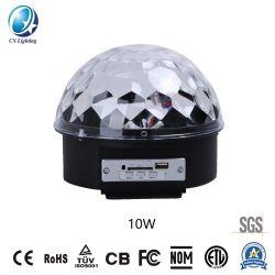 Etapa distribuidor LED Lámpara Bola mágica Bluetooth con las teclas 10W 100-240V Venta caliente IP44.