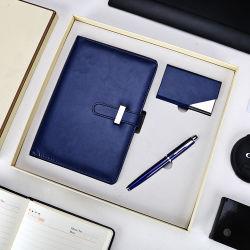 会社ビジネスノートの昇進のギフトはロゴとセットした