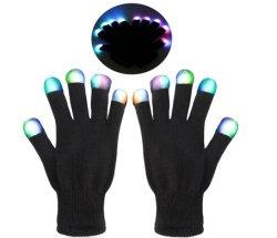 Großhandelsdie festival-Partei-Zubehör-multi Farbe, die LED ändert, leuchten magischen Partei-Handschuhen für Kinder