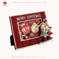 Esquí de promoción de las niñas el marco de fotos decoración navideña de Artesanía de resina