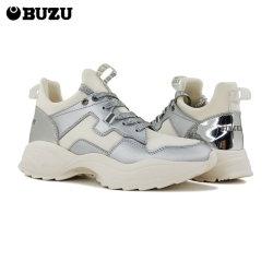 2021 Mulheres Calçado de moda Suede Leather mídias físicas Calçado de desporto a uma curta corrida tênis de corrida